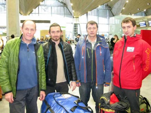 Od lewej: Nikołaj Totmjanin (Николай Тотмянин), Siergiej Kondraszkin (Сергей Кондрашкин), Walerij Szamało (Валерий Шамало) i Wiktor Kowal (Виктор Ковал).
