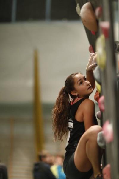 Elsa Ponzo podczas rozgrzewki, jak okazało druga w całych zawodach (fot. Wojtek Lembryk / KFG)