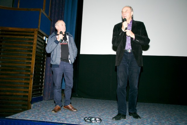Bohaterowie zimowego Everestu na scenie - Krzysztof Wielicki i Leszek Cichy (fot. Robert Kielak)