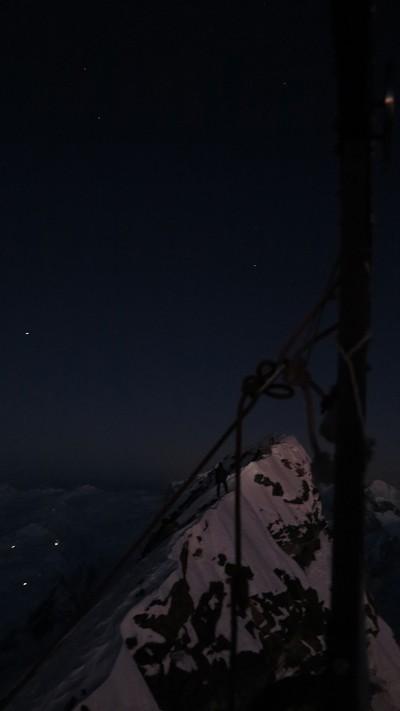 Kacper na grani szczytowej (fot. Adam Bielecki)