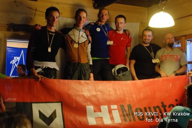 Męskie podium zawodów (fot. Ola Tyrna)