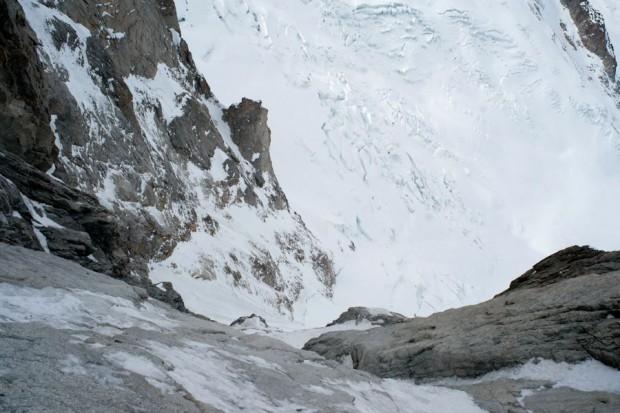 Widok na górne pole lodowe (fot. Wojciech Ryczer)