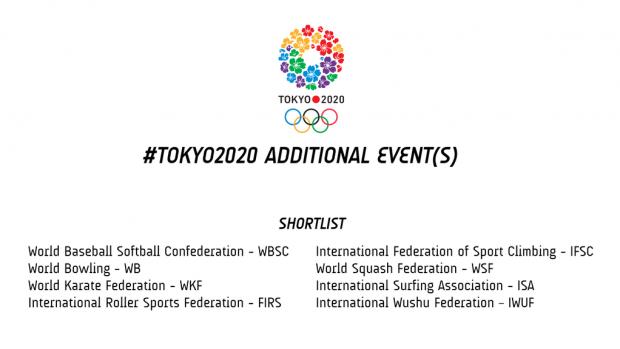 Tokio 2020 - shortlist