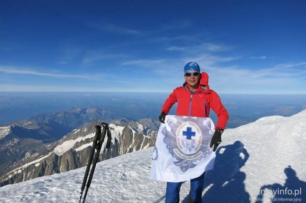 Jacek Żebracki na Mont Blanc