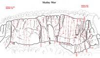 Skalny Mur (Dolina Kobylańska) - rys. Tommasz Ślusarczyk