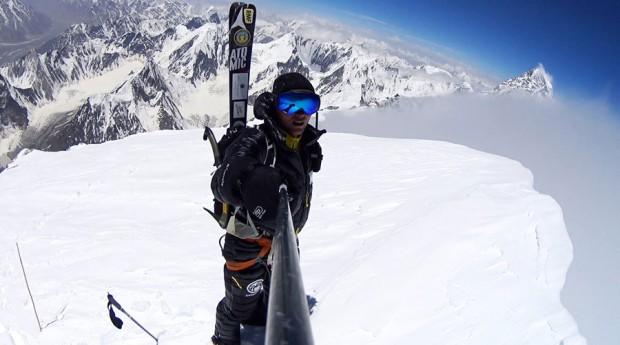 Andrzej Bargiel na szczycie Broad Peaka (fot. arch. A. Bargiel)