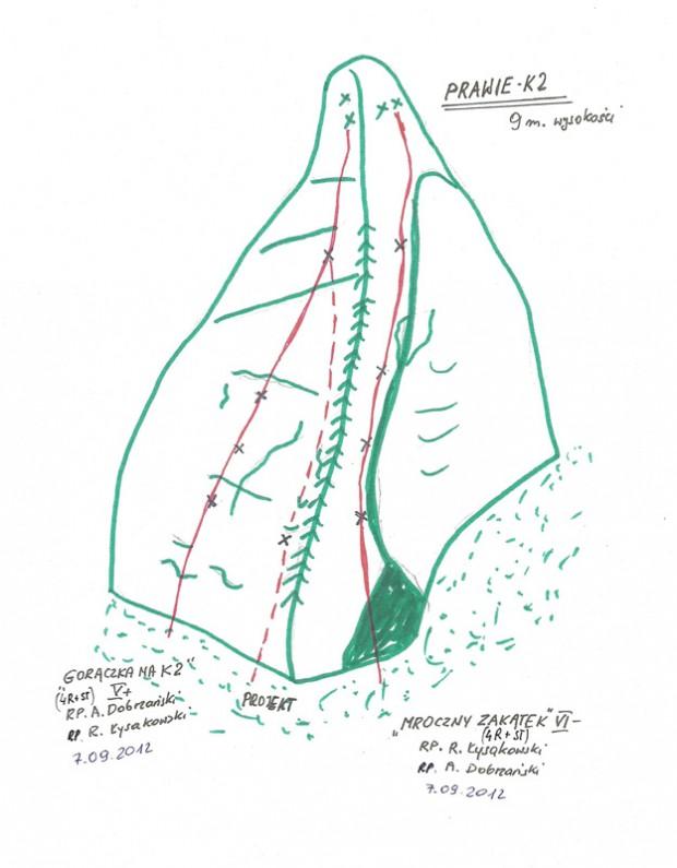 Prawie K2 (fot. rys. Andrzej Dobrzański)