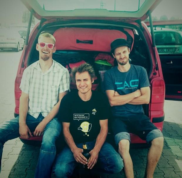 Ekipa Alpine Wall Tour w komplecie. Od lewej: Jacek Matuszek, Łukasz Dudek i Wojtek Kozakiewicz (fot. Justyna Matuszek)