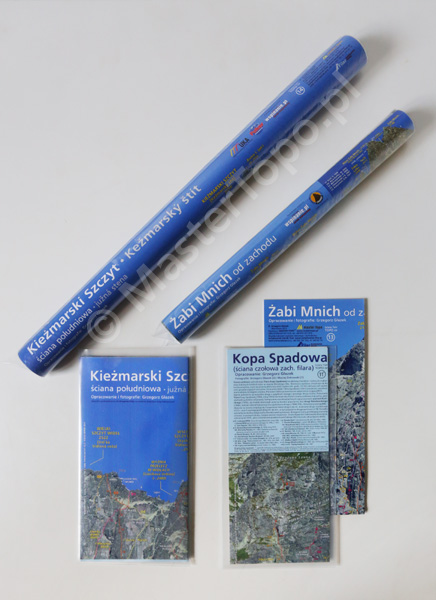 Zestawy Spadowa Kopa i Żabi Mnich oraz Kieżmarski, w formie w jakiej są sprzedawane, tzn. składane jak mapa lub rolowane