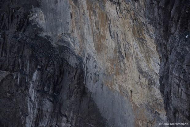 """Północna ściana Eigeru, którą biegnie """"Paciencia"""" (fot. Frank Kretschmann)"""