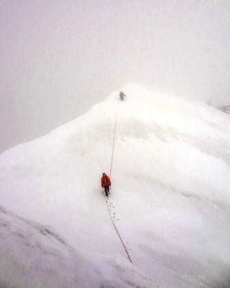 Ostatnie metry przed szczytem