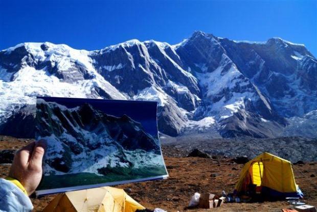 Wymarzony cel wyprawy, filar Annapurny IV, na żywo