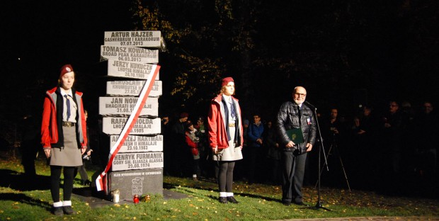 Ignacy Nendza, jeden z inicjatorów budowy pomnika, prowadził także uroczystość jego odsłonięcia