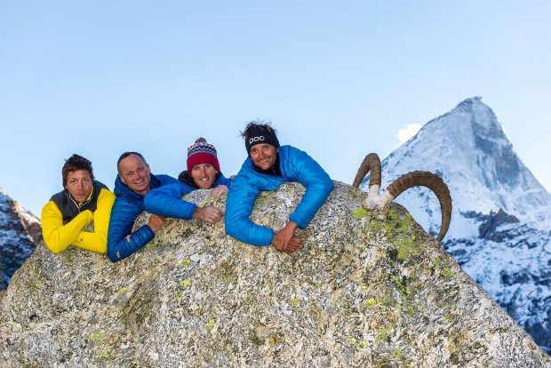 Ekipa Cerro Kishtwar: Marko Prezelj, Urban Novak, Hayden Kennedy i Manu Pellissier