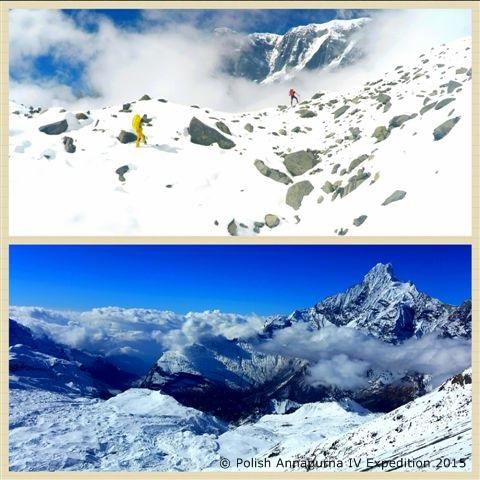 Moreny przy bazie. W drodze na przełęcz (fot. Polish Annapurna IV Expedition 2015)