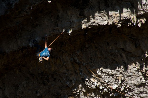 Przed cruxem, a potem jeszcze 40 metrów wspinania ( (fot. www.kbecan.blogspot.com)