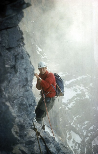 Chris Bonington na północnej ścianie Eigeru, 1962 rok (fot. Chris Bonington Picture Library)