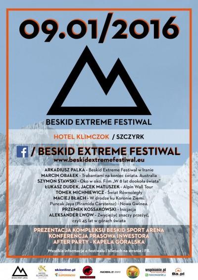 Beskid Extreme Festiwal - plakat
