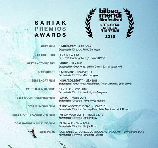 Nagrody przyznane na Bilbao Mendi Film Festival