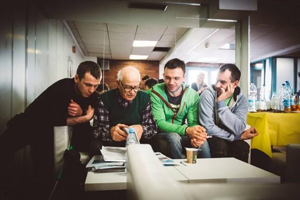 Członkowie Tagas Expedition podczas spotkania z Jerzym Walą (fot. Adam Kokot / KFG)