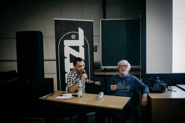 Spotkanie z Jerzym Surdelem, przepytywał Andrzej Mirek (fot. Adam Kokot / KFG)