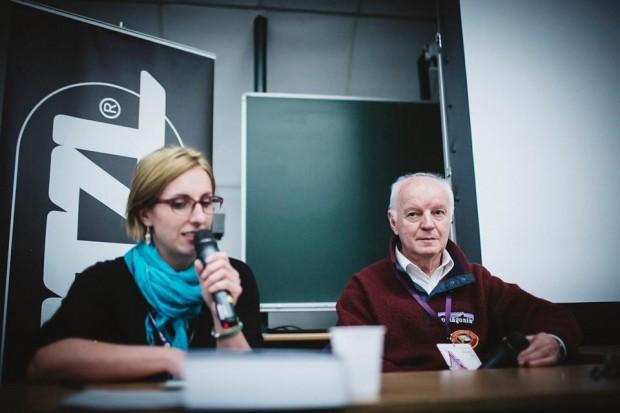 Prof. Zdzisław Ryn, spotkanie prowadziła Ilona Łęcka (fot. Adam Kokot / KFG)