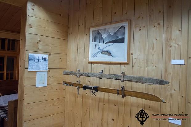 """Wystawa """"Magia nart' w Muzeum Tatrzańskim (fot. Rafał Jabłoński-Zelek)"""