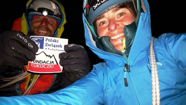 Marcin Wernik i Agnieszka Tyszkiewicz na szczycie Standhardta