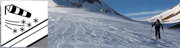 Avalanche problem drifting snow / Nawiany śnieg