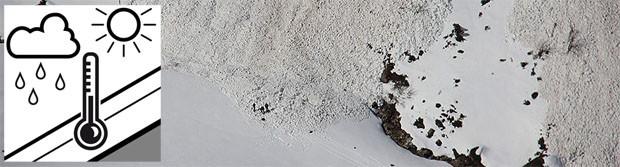Avalanche problem wet snow / Mokry śnieg