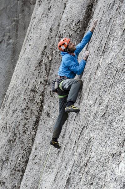 Jozef Krištoffy na najtrudniejszym, 14. wyciągu El Condor Pasa (Cerro Trinidad)