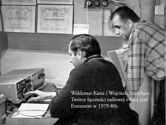Waldemar Kania i Wojciech Nietyksza, twórcy łączności rafiowej z bazą pod Everestem