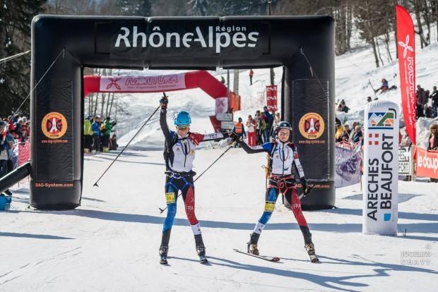 Axelle Mollaret i Laetitia Roux na mecie wyścigu