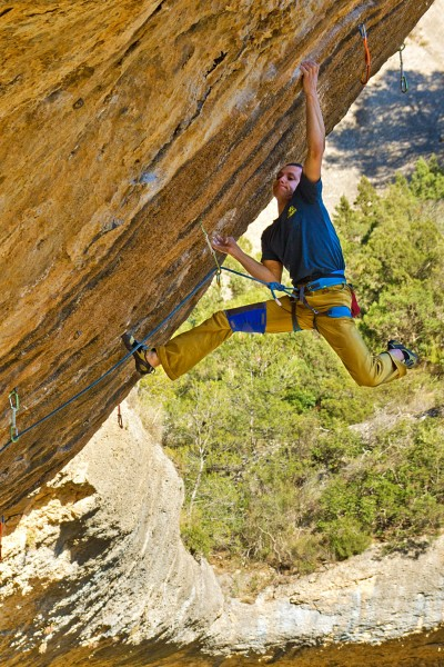 "Kluczowy boulder na ""First Ley"" (fot. Robert Muzyczka)"