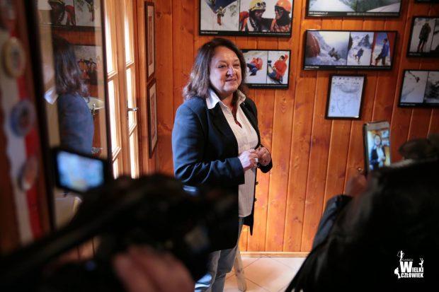 Cecylia Kukuczka na uroczystym otwarciu odnowionej Izby pamięci Jerzego Kukuczki