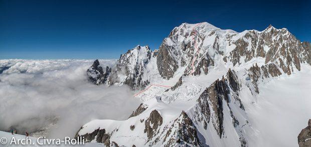 Przebieg Major Route na Mont Blanc