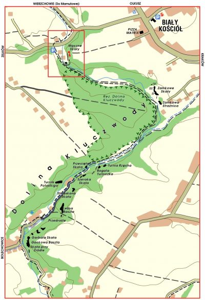 Mączne Skały, mapa
