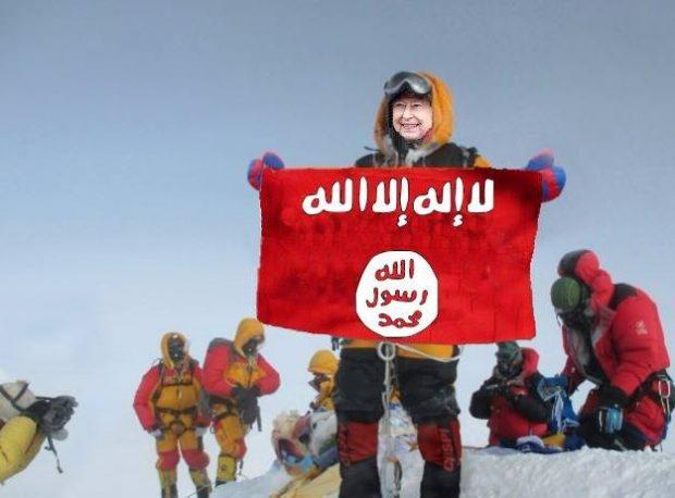 Elżbieta, królowa matka na szczycie Mount Everestu (fot. Bob A. Schelfhout Aubertijn)
