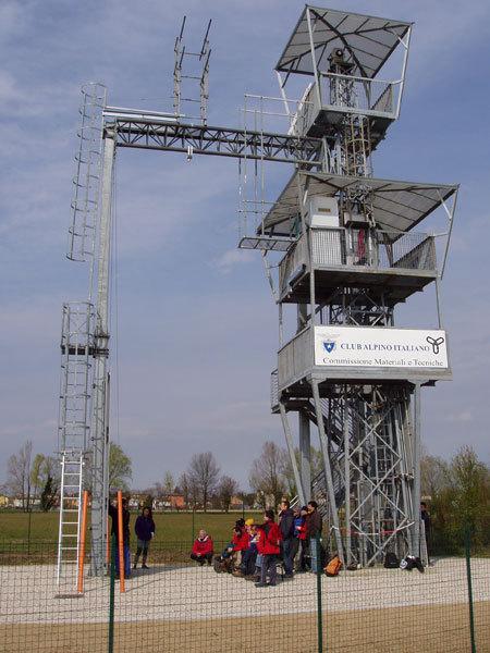 Wieża w Centro Sportivo Brentella w Padwie, na której przeprowadzono badania pętli