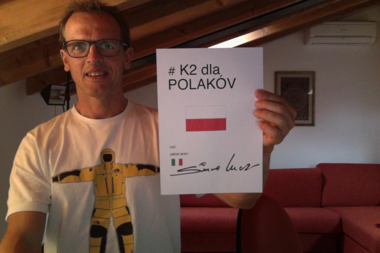 Simone Moro także głosuje za #K2dlaPolakow