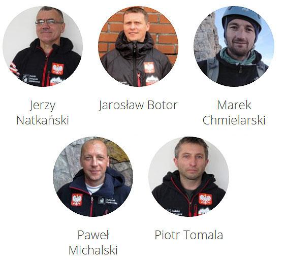 Uczestnicy letniej wyprawy na K2, 2016