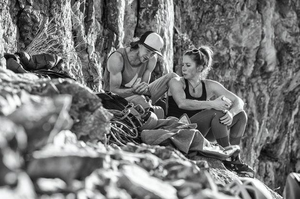 Black Diamond Social Media Producer Katy Dannenberg, Black Diamond Ambassador Dan Mirsky / East Elk Creek Canyon, New Castle, CO (fot. Mattias Fredriksson)