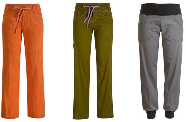 Spodnie damskie, od lewej: Poem Pants, Credo Pants oraz Notion Pants