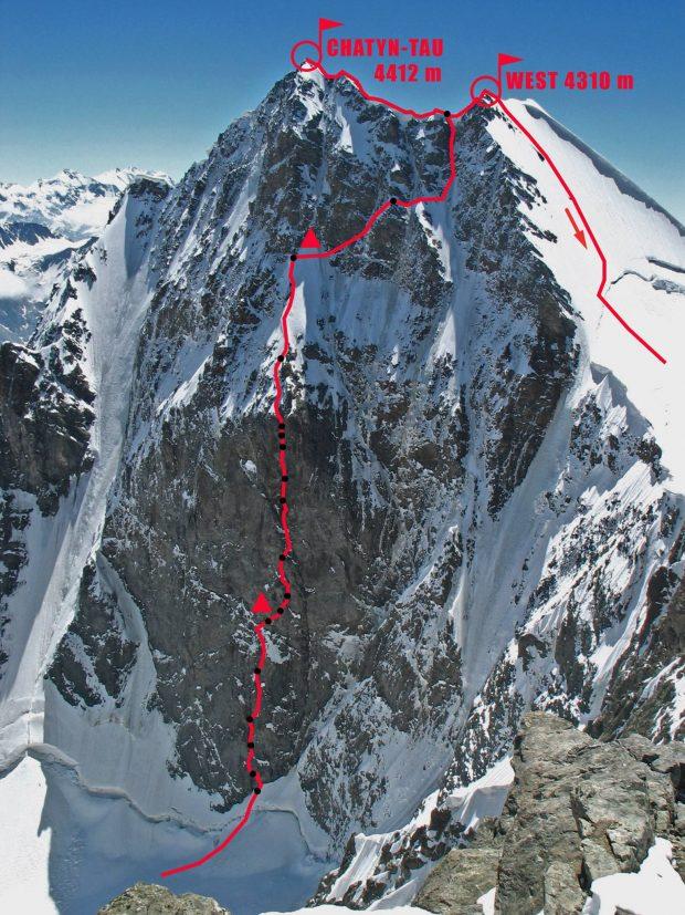 Droga Myszlajewa na Czatyn –Tau (4412 m)