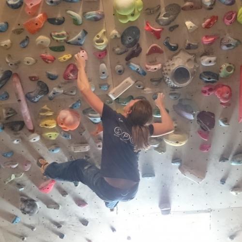 Trening na ścianie...