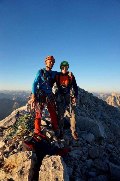 Marcin Tomaszewski i Tom Ballard na Monte Civetta