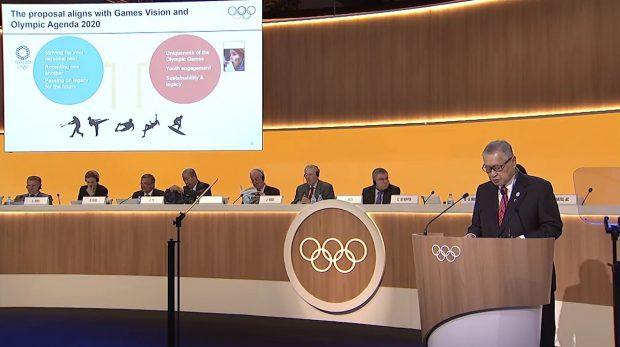 Yoshiro Mori, przewodniczący Komitetu Organizacyjnego Tokyo 2020, rekomenduje włączenie nowych sportów