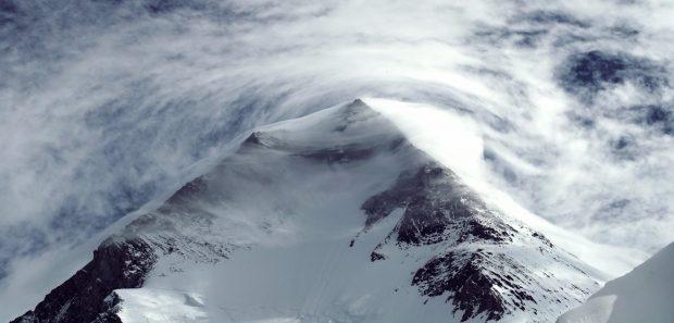 Kopuła szczytowa Gasherbruma I podczas ostatniego załamania pogody (fot. arch M. Holecek)