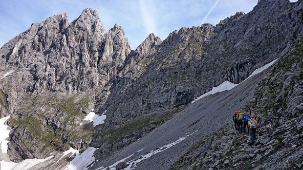 Kopftörlgrat najsłynniejsza grań na najwyższy szczyt masywu Ellmauer Halt (fot. Rafał Mikler)