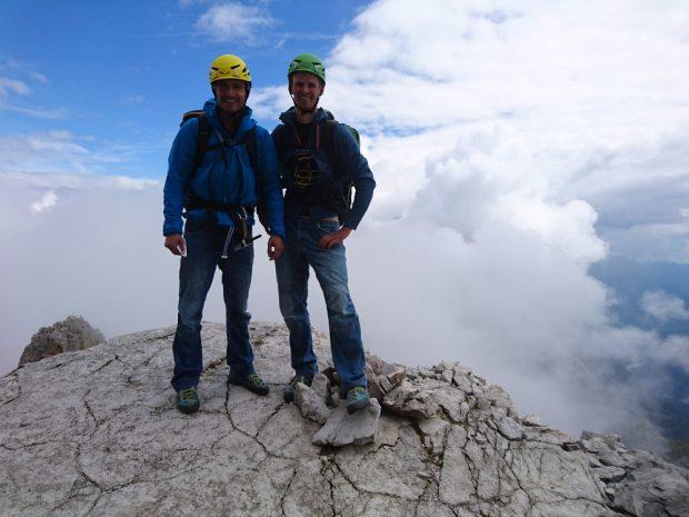 Łukasz i Jacek w ścianie Cima Grande (fot. Alpine Wall Tour)